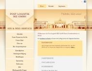 Bild Webseite Post Logistik BIZ Berlin