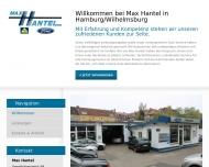 Bild Webseite Max Hantel Hamburg
