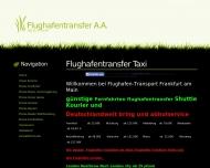 Website BLU Taxi Rüsselsheim