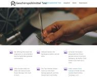 Bild Webseite Geschirrspülmittel Tester Konstanz