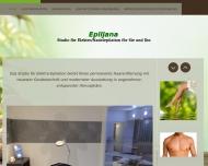 Bild Webseite Epiljana - Studio für Elektroepilation für Sie und Ihn Berlin