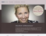 Website Praxis für Osteopathie Vera Pfeiffer