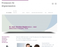 Website Dr. med. Christian Neglein Privatpraxis für Allgemeinmedizin