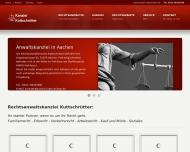 Bild Webseite Anwaltskanzlei Kuttschrütter Aachen