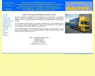 Bild Webseite Baltes Internationale Möbeltransporte Aachen