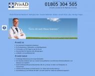 Website Ärztlicher Akut-Dienst PrivAD