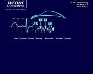 Bild Webseite WEDDE CAR SERVICE Hamburg