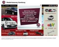 Bild Webseite Fiat Automobil Hamburg