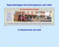 Bild Webseite Hoppe Appartement- & Einrichtungshaus Sylt-Ost