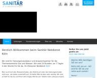 Bild Webseite Sanitär Notdienst Köln Köln