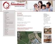 Website Möbel Petzenhauser