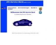 Bild Webseite Kfz-Service-Nord Flensburg