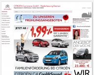 Bild Webseite Citroen Commerce Bremen