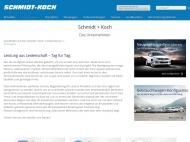 Website Autohaus Neustadt SCHMIDT + KOCH Gesellschaft