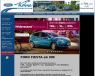 Bild Webseite Fahrzeughaus Kohne Bremen