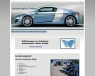 Bild Webseite Automobile Fetter Bremen