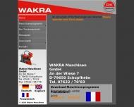 Bild Webseite WAKRA Maschinen Schopfheim