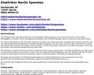 Website Elektriker Berlin Spandau