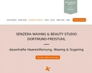 Website Senzera - Dauerhafte Haarentfernung, Waxing & Sugaring in Dortmund-Freistuhl