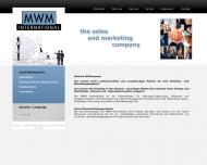 Bild Webseite MWM International Vertriebs München
