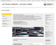 Website Autohaus Brand + Goldau Gesellschaft