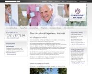 Bild Webseite Pflegedienst Ina Feist Freital