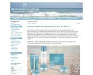 Bild Webseite Meerwasser Kosmetik Franziska Teebken München