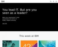Bild Webseite IBM Services Center - Deutschland Magdeburg