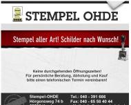 Bild Stempel OHDE Schilder