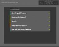 Bild Webseite Ortmanns Adam & Co. Marmor + Granit Aachen