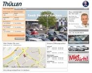 Website SAAB Zentrum Aachen Thüllen Scanauto