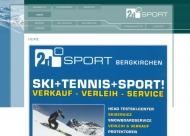 Bild Webseite 2D-Sport Vertriebs- und Service Bergkirchen