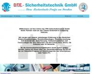 Bild Webseite D T E  Sicherheitstechnik Gesellschaft Flensburg