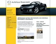 Bild Webseite Rosendahl Autohaus Ascheberg