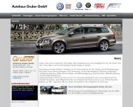 Website Volkswagen - Audi-Partner Autohaus Gruber