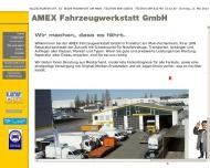 Bild Webseite Amex Fahrzeugwerkstatt Frankfurt