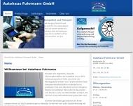 Bild Webseite Autohaus Fuhrmann Frankfurt