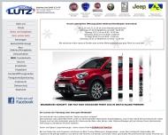 Autohaus Lutz Ihr Fiat H?ndler und autorisierter Lancia, Alfa Romeo, Abarth, Jeep Service Partner im...