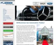 Bild Webseite Mercedes-Benz FLEBBE Autohaus Flebbe Frankfurt