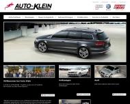 Bild Webseite Volkswagen - Audi-Partner Auto-Klein Frankfurt
