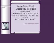 Bild Webseite Lüttgen & Boos Inh. Werner Löwe Köln