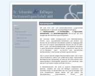 Website Dr. Schneider & Kollegen Rechtsanwaltsgesellschaft