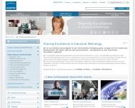 Bild Webseite OPTISENS Optische Sensorsysteme Konstanz