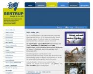 Bild Webseite BentoRent Vermietung von Baumaschinen Christiane Bentrup Ascheberg