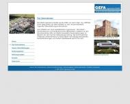 Website GEFA Ingenieure