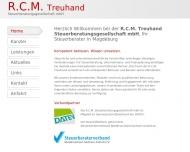 Website RCM Treuhand Steuerberatungsgesellschaft