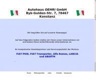 Bild Webseite Autohaus Oehri Konstanz
