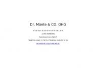 Bild Webseite Münte Dr. & Co. Hamburg