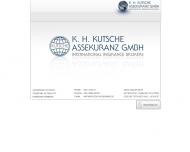 Bild Webseite K. H. Kutsche, Assekuranz Hamburg