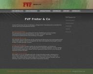 Bild Webseite FVF Fachbüro für Versicherungen und Finanzen Freter Bremen